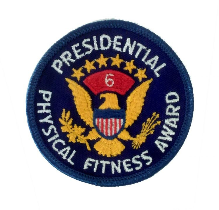 The Presidential Physical Fitness Award badge - year 6
