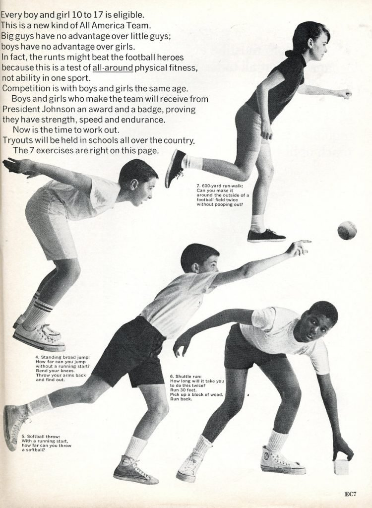 The Presidential Physical Fitness ad from 1967