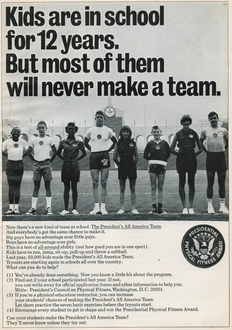 The Presidential Physical Fitness ad from 1968