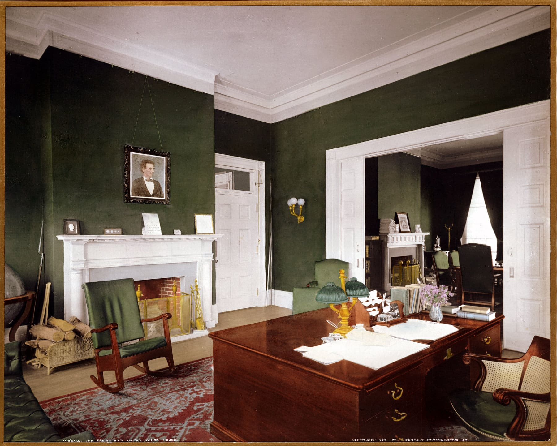 The President's office, White House (1904) - Click Americana
