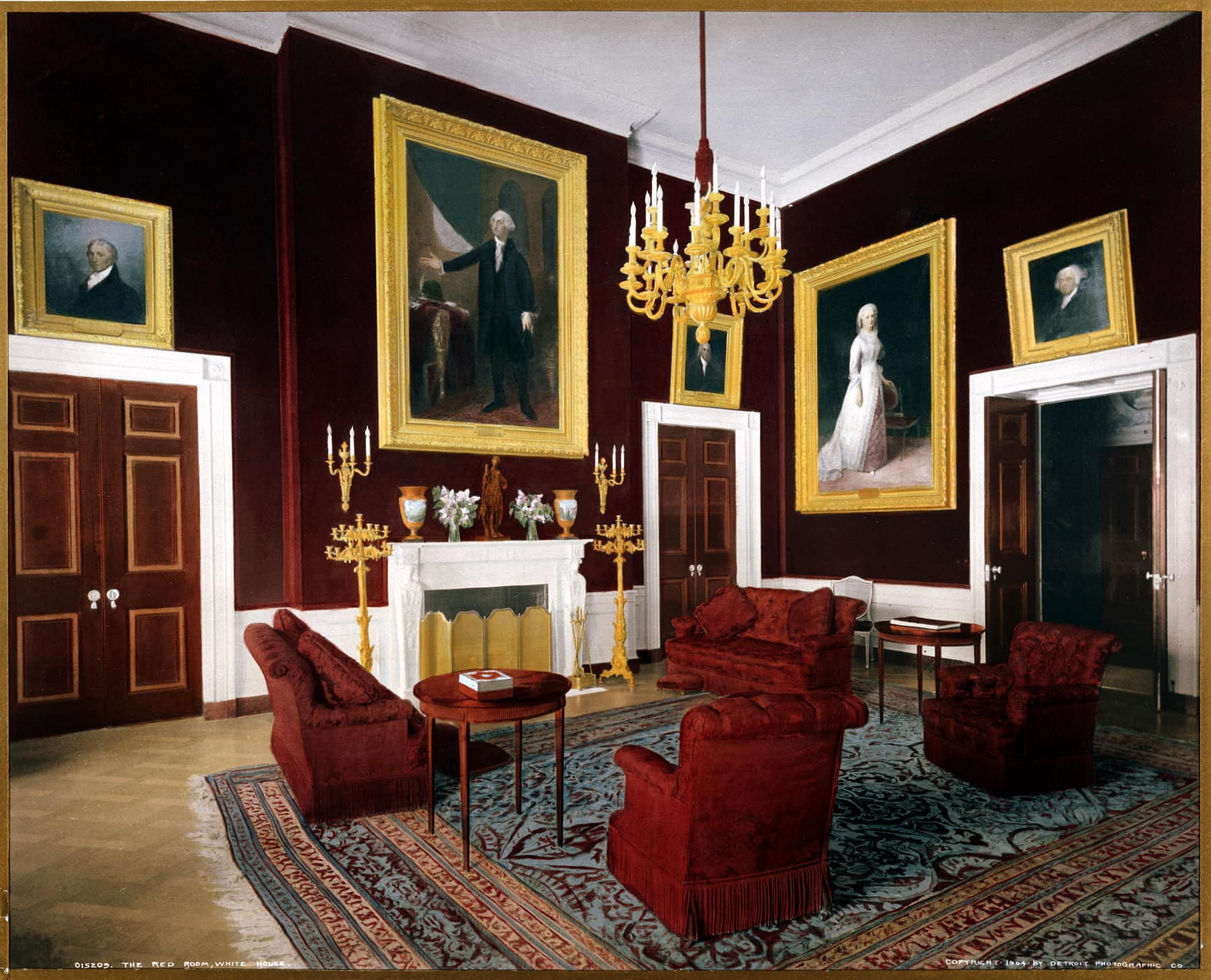 The Red Room, White House (1904) - Click Americana