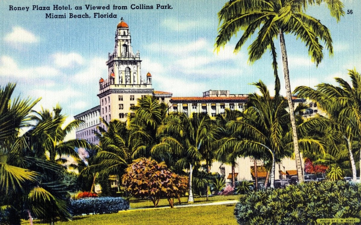 The Roney Plaza, Miami Beach, Florida 1930 1940