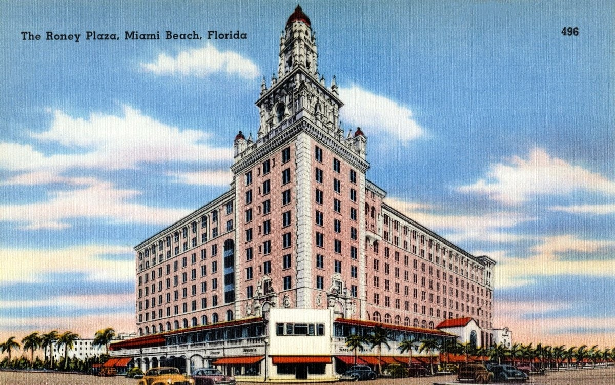 The Roney Plaza, Miami Beach, Florida 1930s 1940s