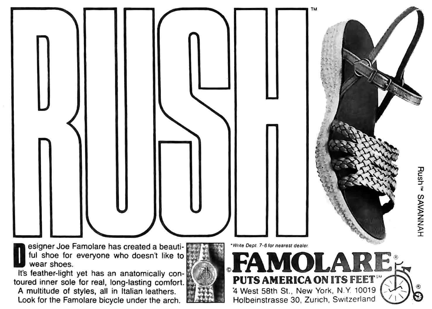 The Rush Savannah shoe from Famolare (1978)