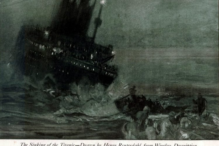 The Sinking of the Titanic – Drawn by Henry Reuterdahl