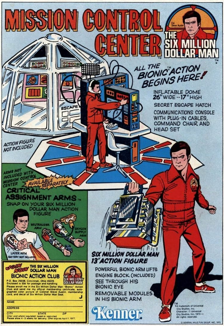 The Six Million Dollar Man action figure doll and toys