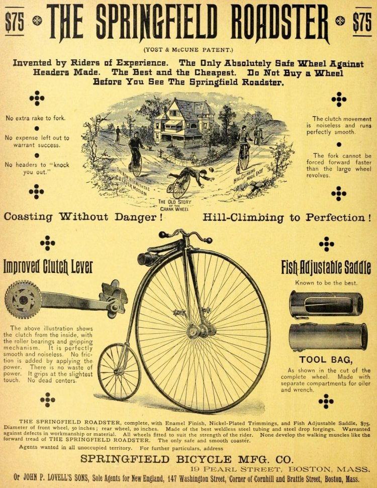 The Springfield Roadster vintage Victorian bicycle