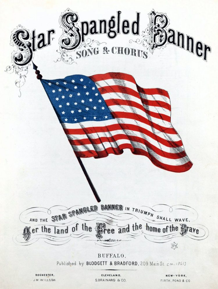 The Star-Spangled Banner - Vintage sheet music