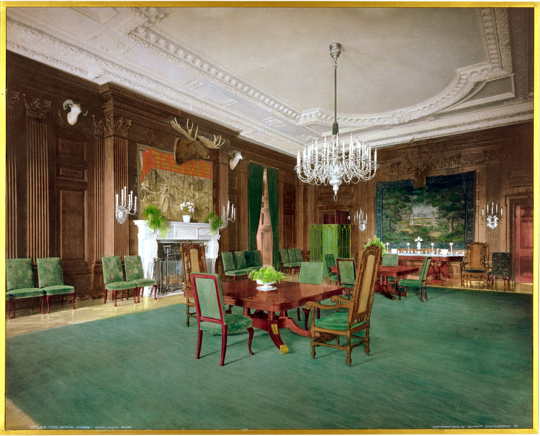 The State Dining Room, White House (1904) - Click Americana