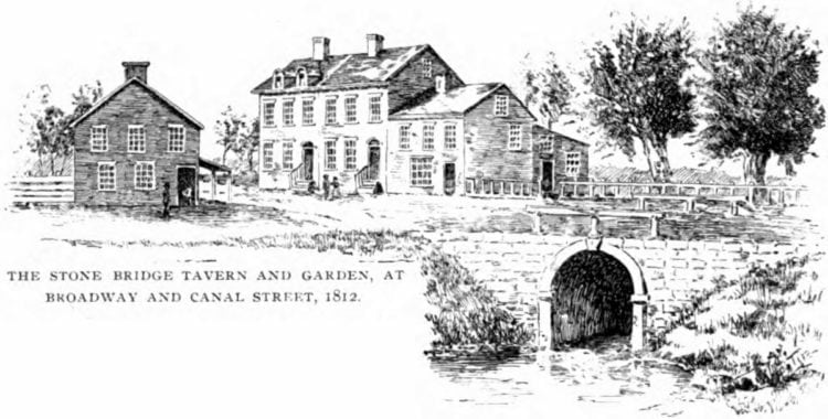 The Stone Bridge Tavern and Garden - 1812