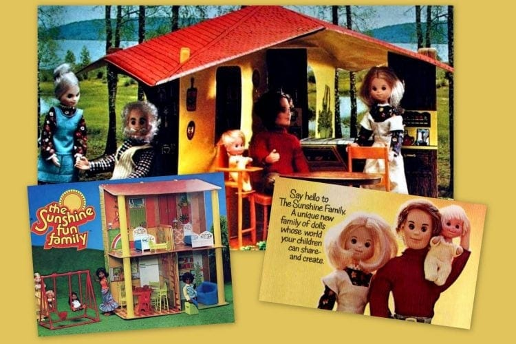 The Sunshine Family dolls and vintage playsets from the 70s