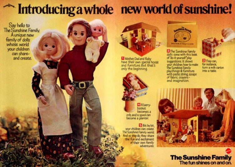 The Sunshine Family from Mattel (1974-1978)