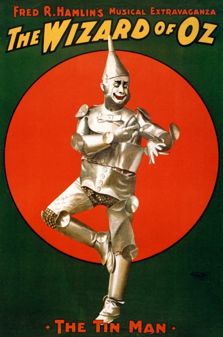 The Tin Man from Wizard of Oz stage production 1904