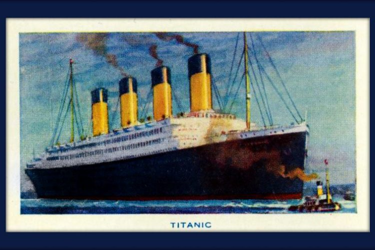 The Titanic - before the ship sank in 1912