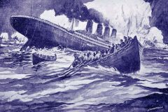 The Titanic sinks - 1912
