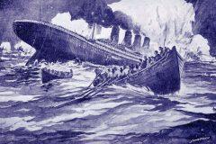 The Titanic sinks - 1912