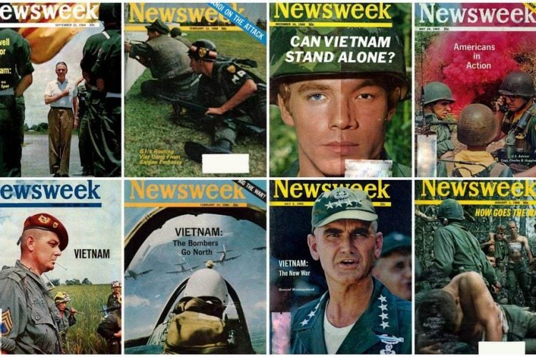The Vietnam War, as seen on Newsweek magazine covers (1964-1973)