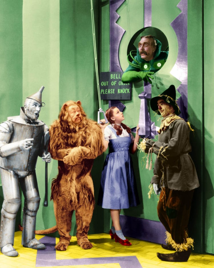 Wizard of Oz movie - Emerald City door and guard
