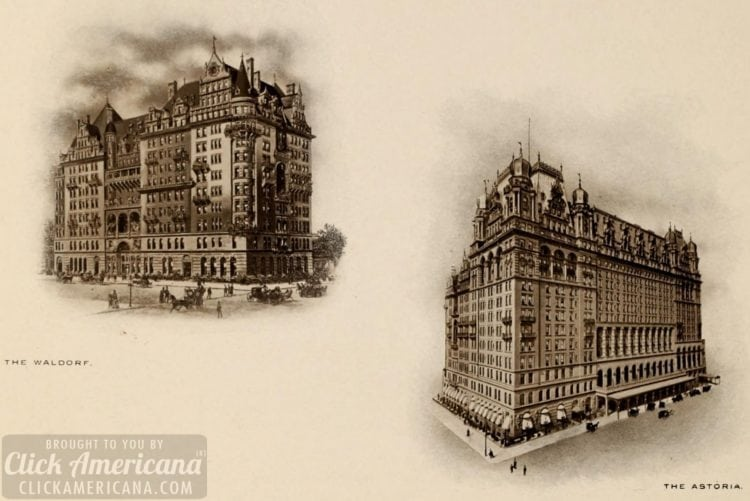 Waldorf-Astoria - The Waldorf and the Astoria hotels in NYC 1903