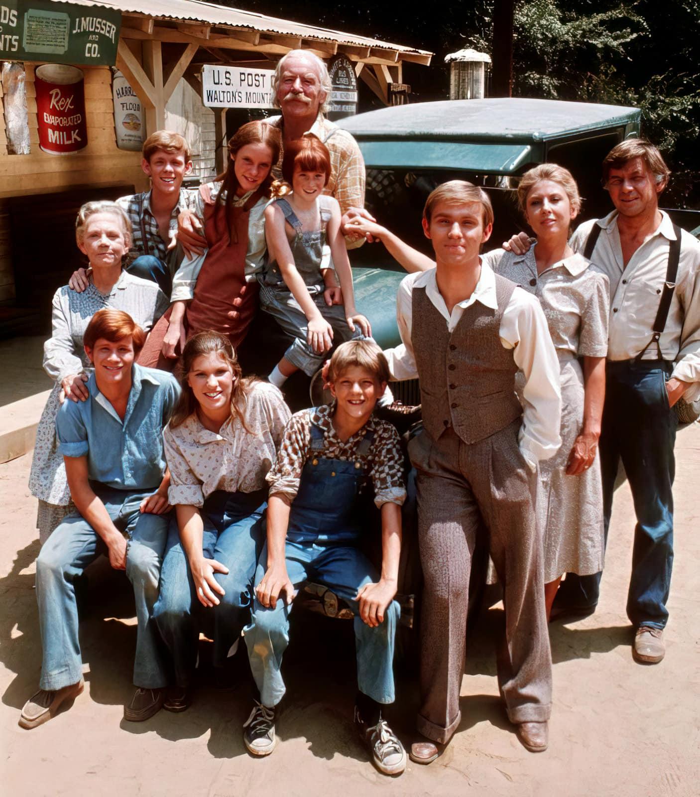 The Waltons TV show cast - 1970s