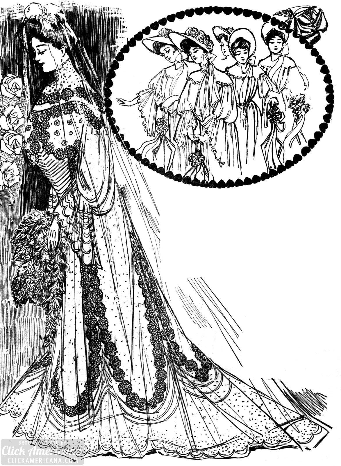 Vintage wedding dresses for the spring bride (1904)