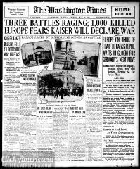 The Washington times., July 30, 1914