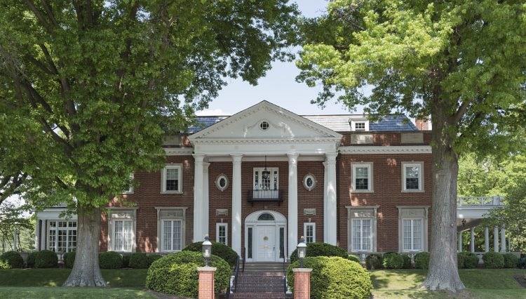 The West Virginia Governor's Mansion in Charleston