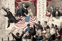 The assassination of President Lincoln. At Ford's Theatre, Washington 1865