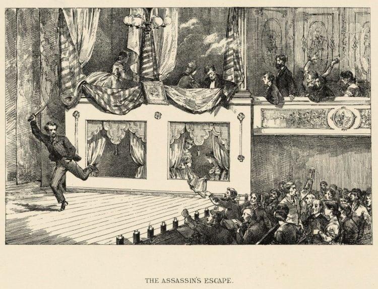 The assassin's escape - Abraham Lincoln