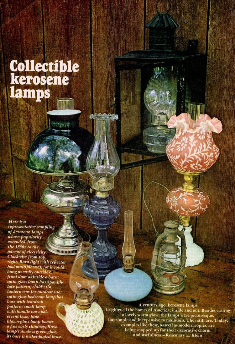 The beauty of antique kerosene lamps