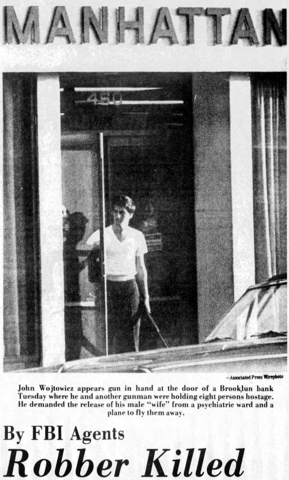 The bizarre real story of the bank robbery behind Dog Day Afternoon - Ithaca Journal - Aug 23 1972