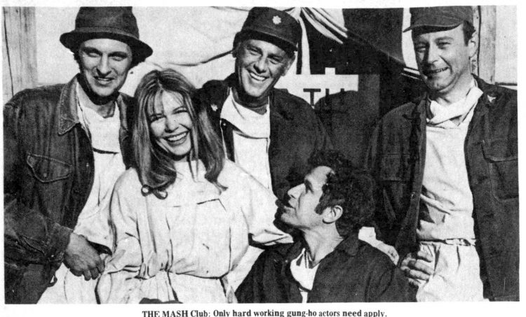 The cast of MASH in 1973