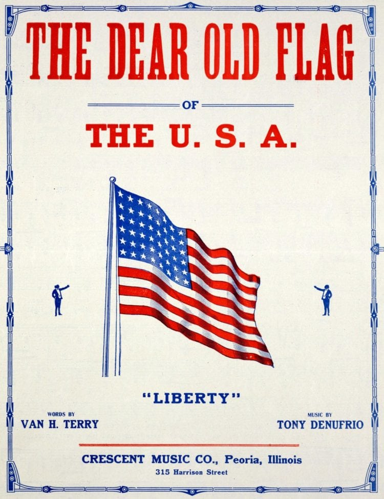The dear old flag of the USA 1918