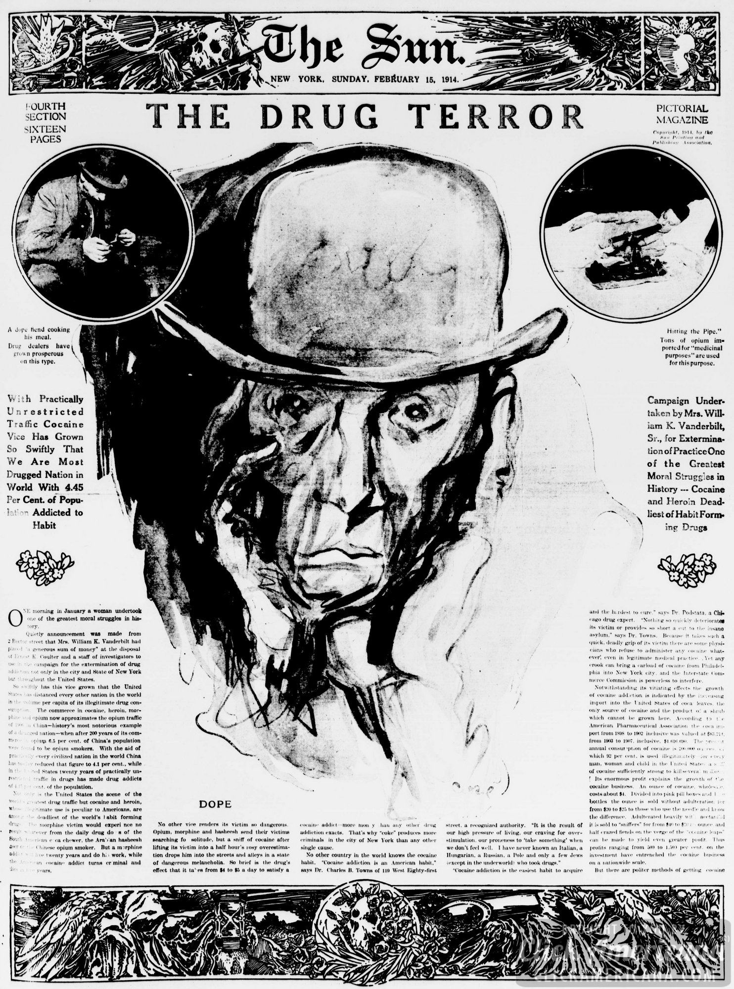 The drug terror: American cocaine addicts (1914)