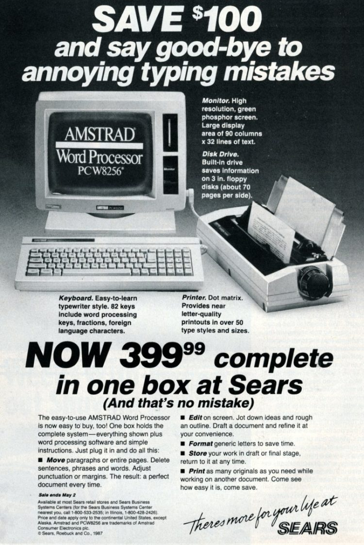The easy-to-use Amstrad Word Processor (1987)