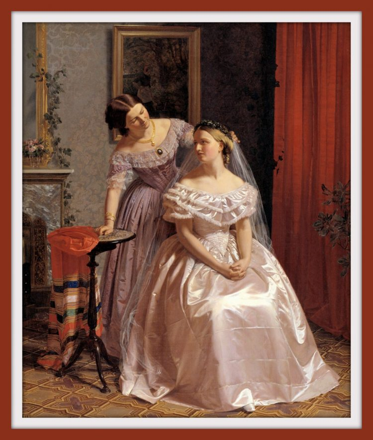 The etiquette of marriage - Painting - Antique bride