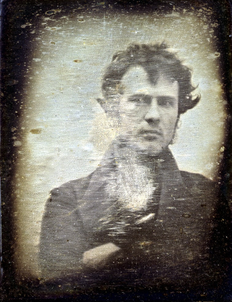 The first selfie photo known to exist - Robert Cornelius (1839) at ClickAmericana com