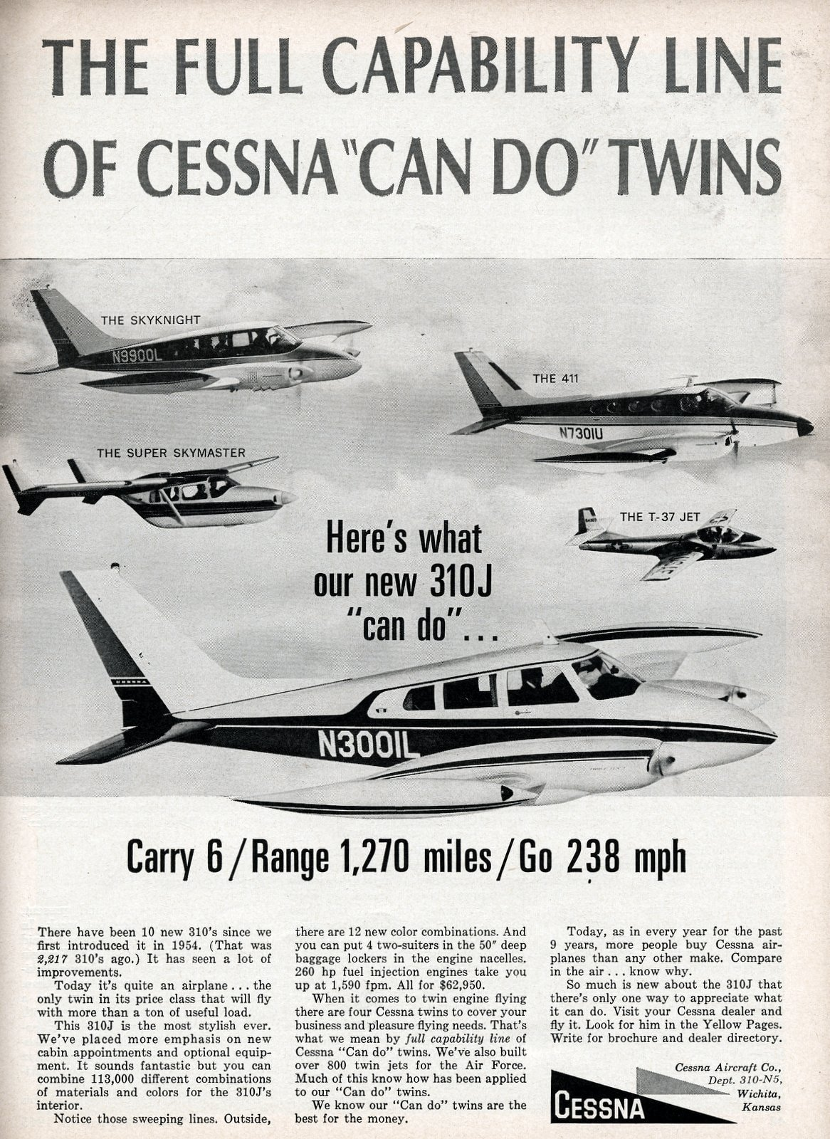 The full capability line of Cessna can do twins (1965)