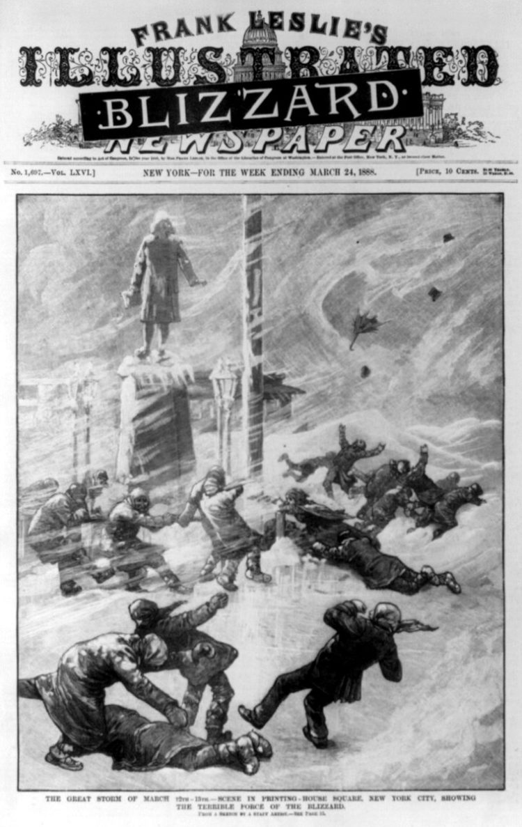 The great storm of March 12th-13th 1888