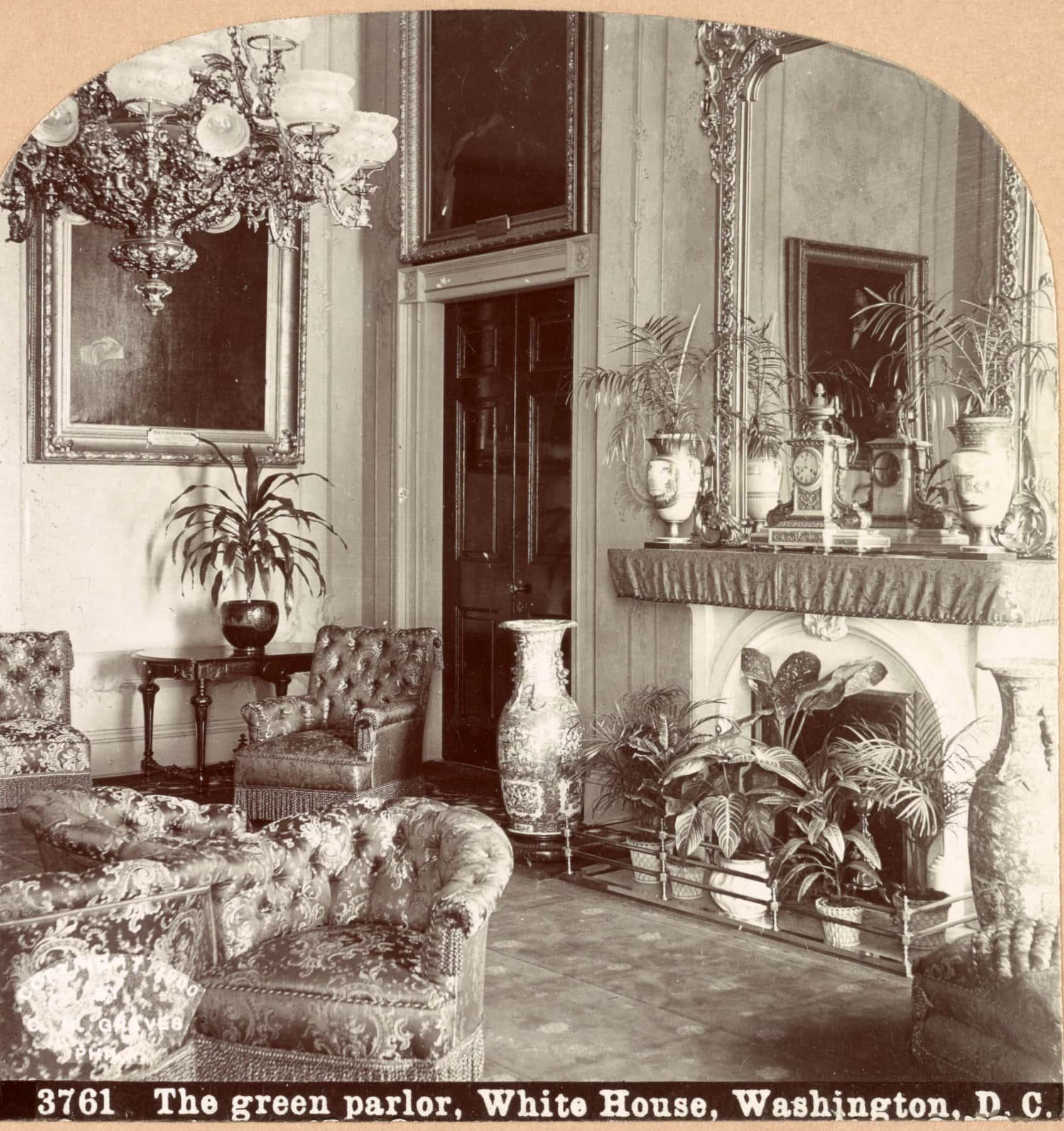 The green parlor, White House, Washington, DC (1900)