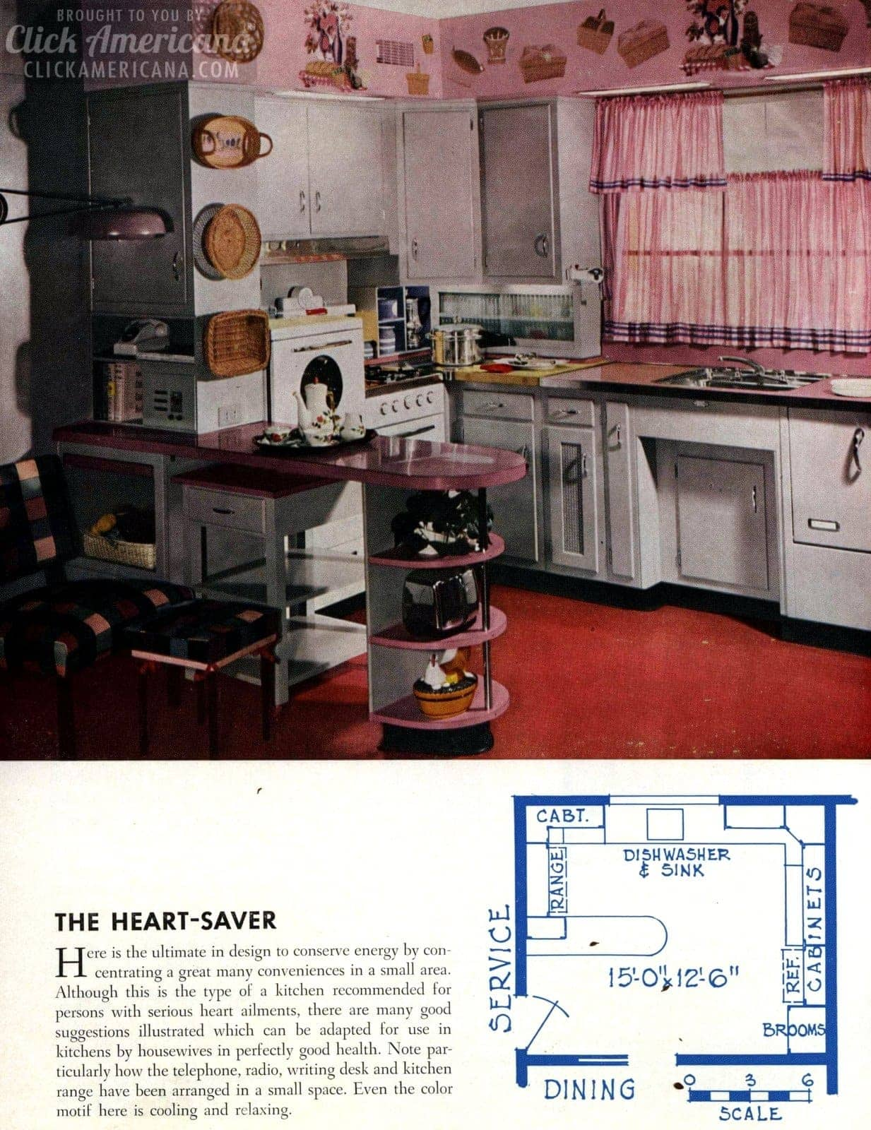 The heart saver Remodeled kitchen design 1954