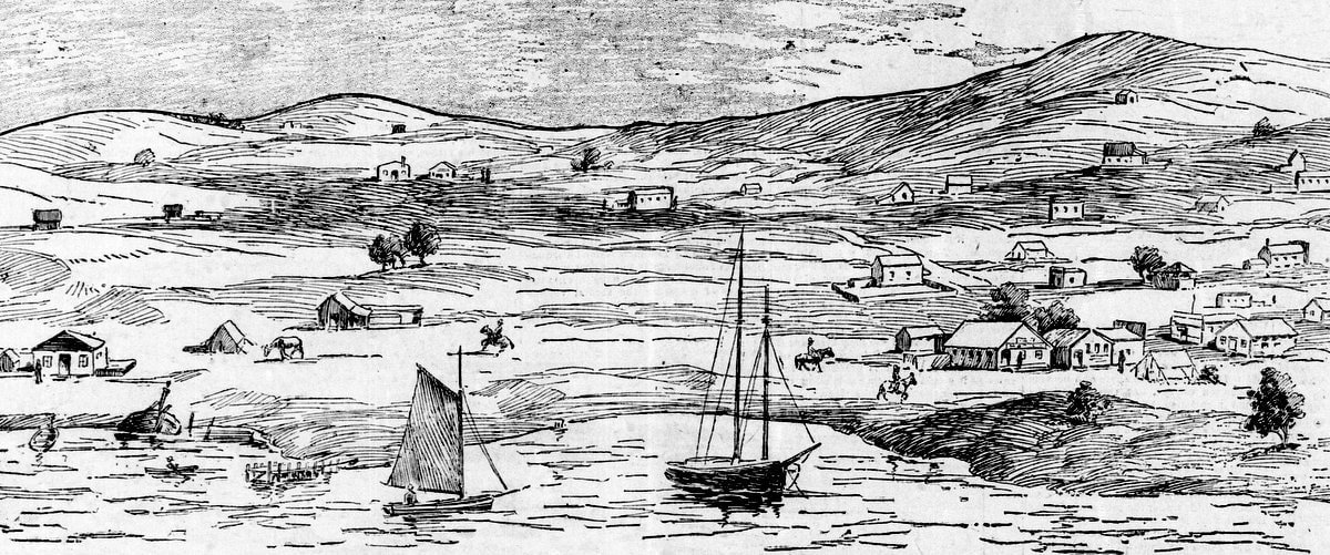 The hills of San Francisco in1857