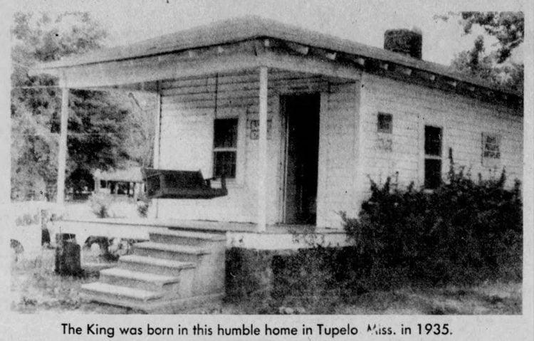 The house where ELvis was born
