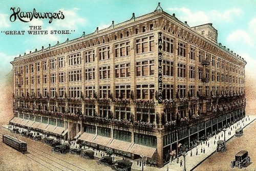 The huge old Hamburger department store in Los Angeles was like a city in itself