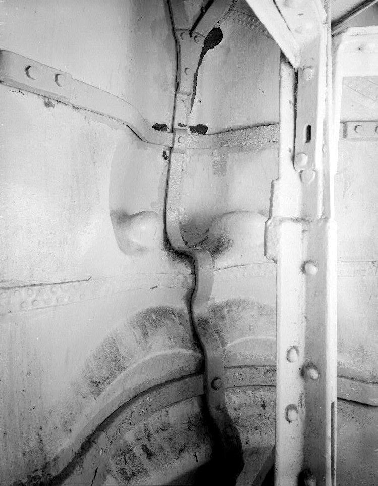 The inside of the Statue of Liberty's face