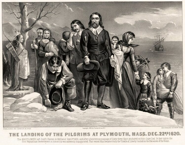 The landing of the Pilgrims at Plymouth - 1620
