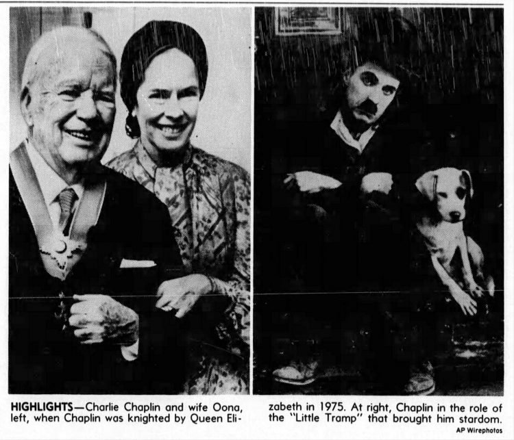 The last years of Charles Chaplin - Looking back in obituary from 1977