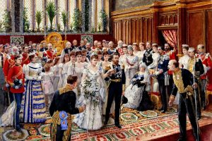 The marriage of TRH the Duke and Duchess of York, 6 July 1893