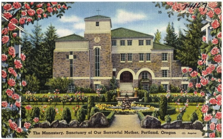 The monastery, Sanctuary of Our Sorrowful Mother, Portland, Oregon