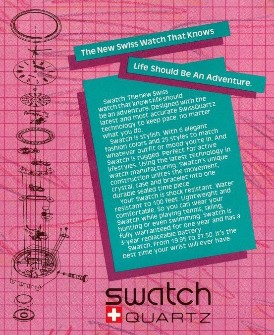 The new Swatch - 1983
